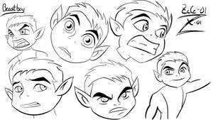 Beast Boy practice sketches