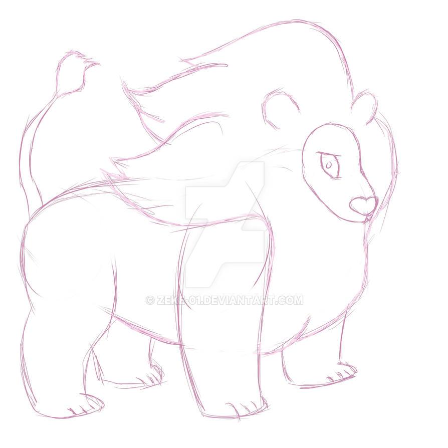Lion Sketch 1 by Zeke-01