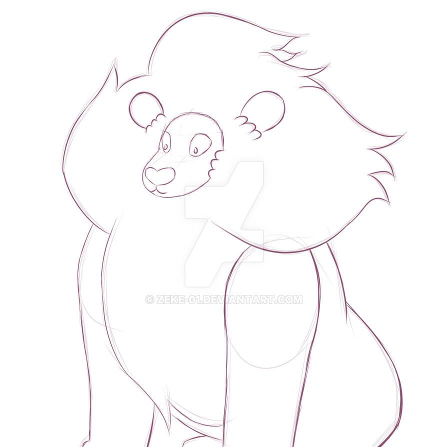 Lion Sketch 2 by Zeke-01
