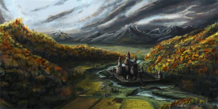 Zart Castle Valley -Commission by dakki-dono
