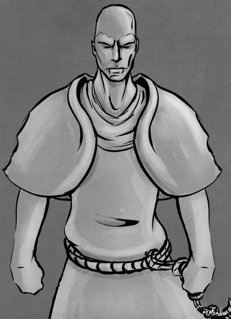 Monk-Sketch by mcaraballo