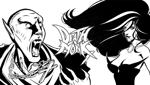 Death Monk Banner Ink by mcaraballo