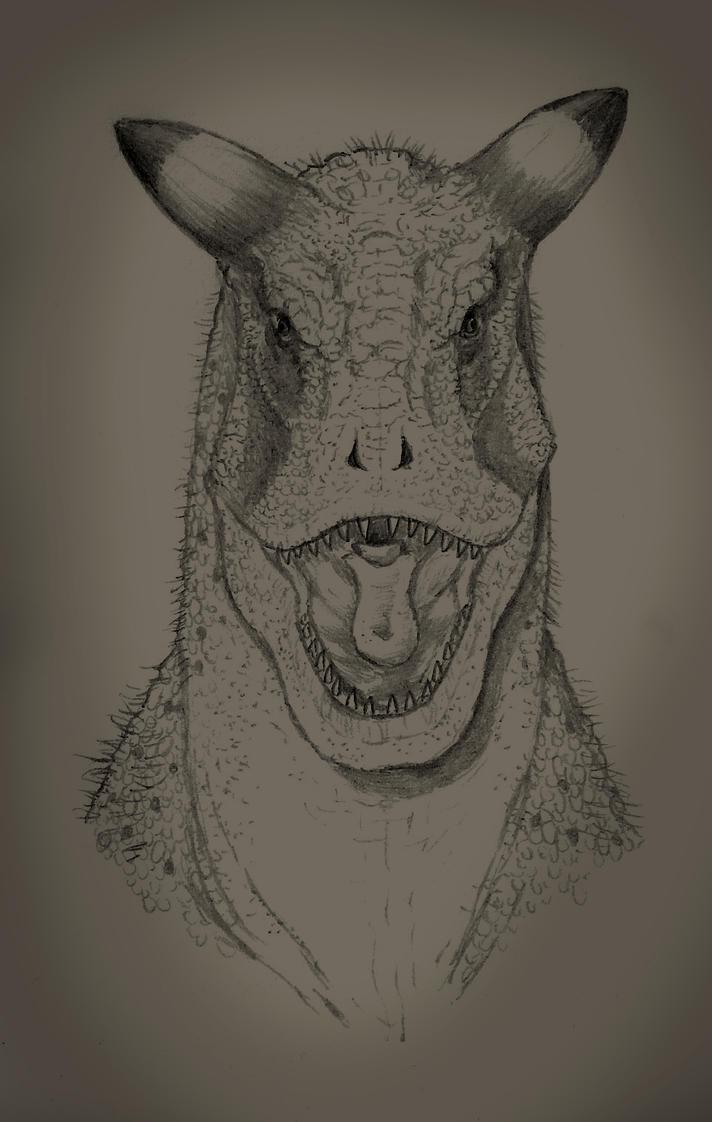 Carnotaurus sastrei portrait by yoult
