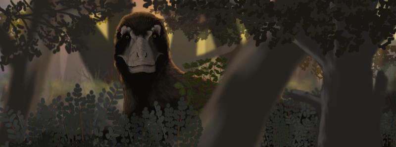 Tyrannosaurus in the Woods