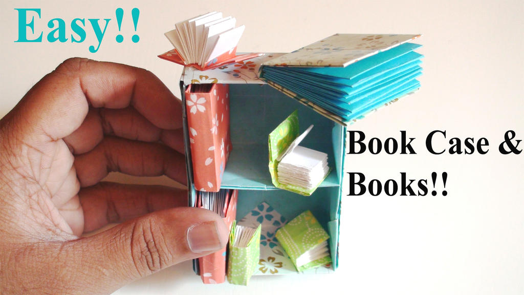 origami book shelf and books easy by tommyclancyx4 on