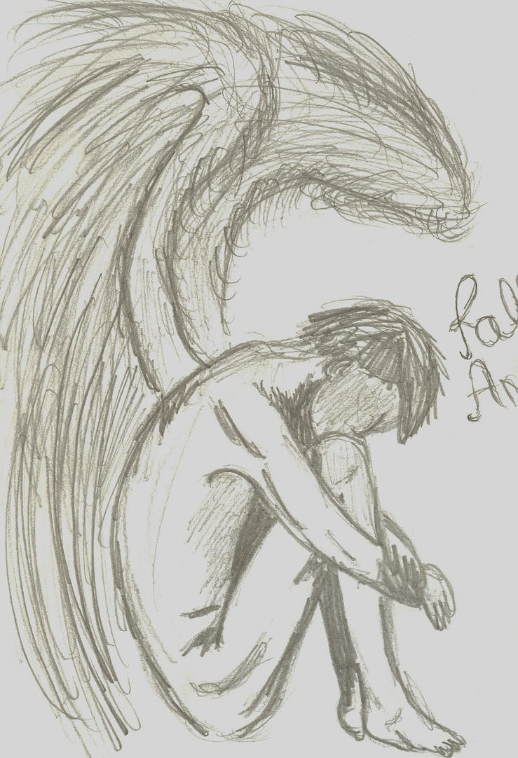 A drawing of a fallen angel just random by u yes u i love u on a drawing of a fallen angel just random by u yes thecheapjerseys Choice Image