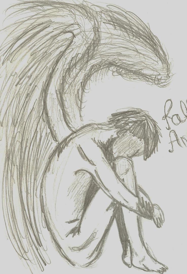 Fallen angel drawing a drawing of a fallen angel altavistaventures Choice Image