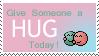 Hug Stamp by Dragonlady-Poho