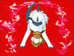 Absol and Eevee Protect