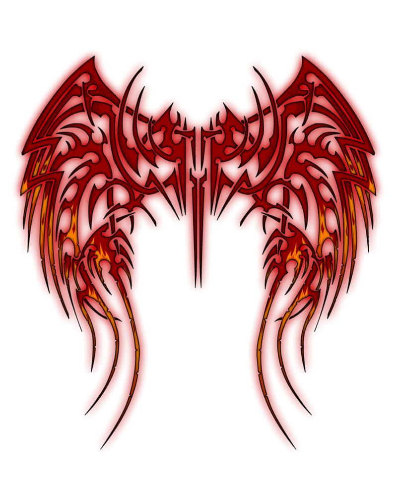 Fallen Tribal Wings by aka-bloodfang1