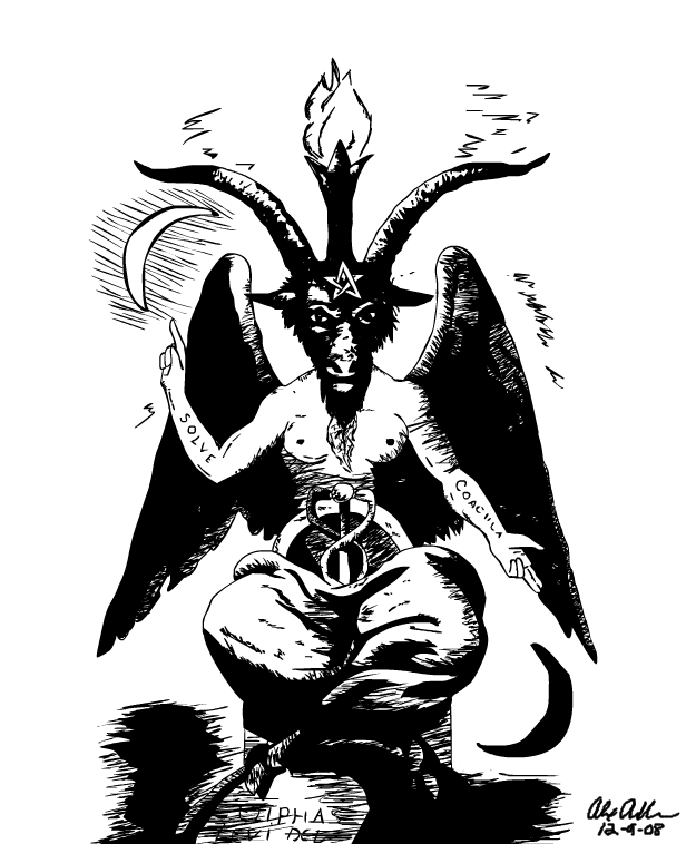 Baphomet tattoos for Baphomet tattoo meaning
