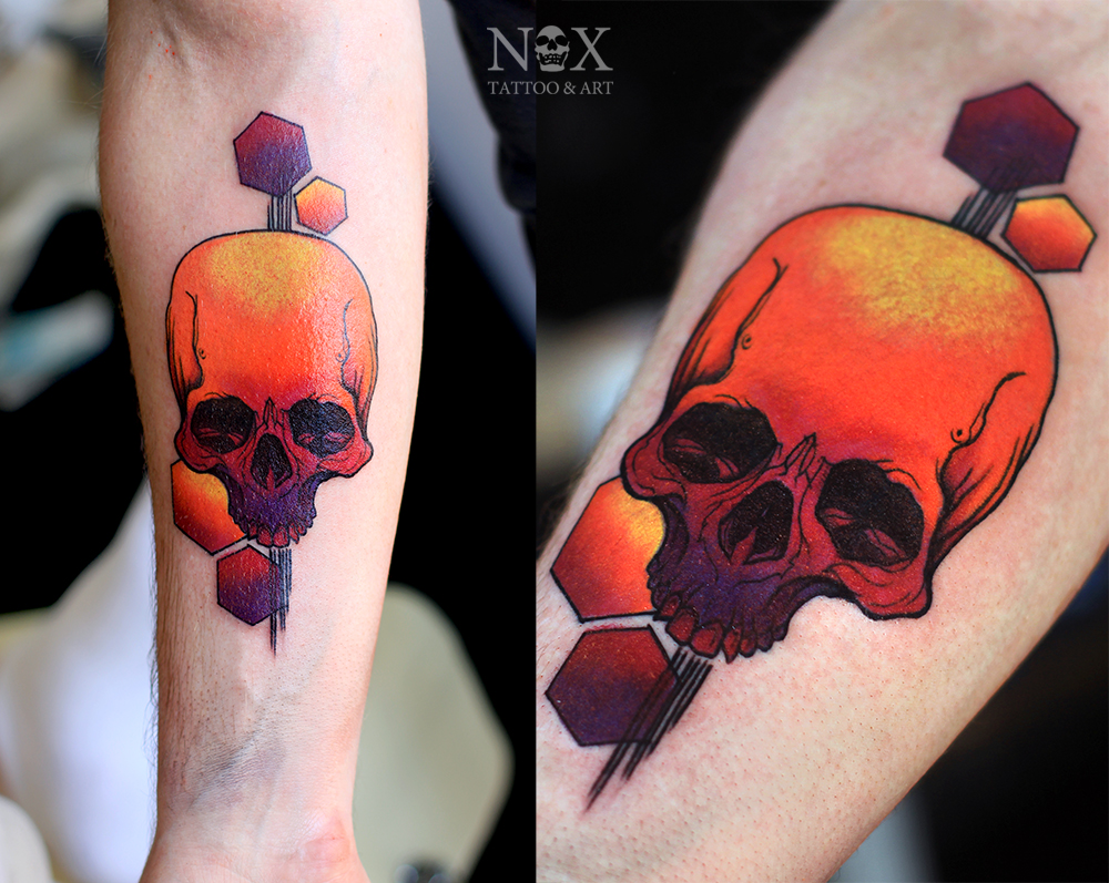 Colorful skull by mattynox