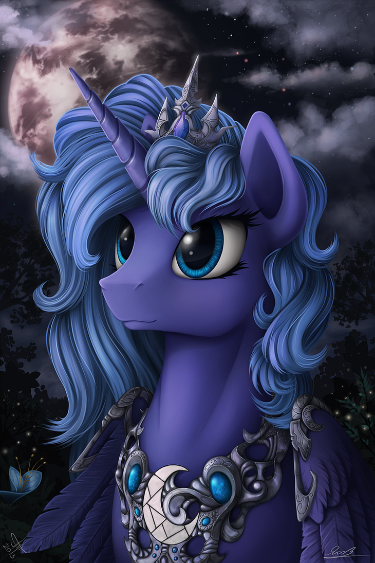 Princess Luna (collab) by Yakovlev-vad
