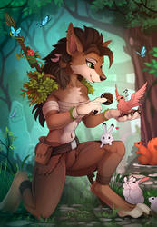 Worgen Druid (Collab) by Yakovlev-vad