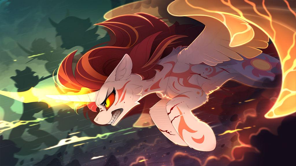 Rage of sun (Color sketch)