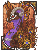 Rusty Peacock Coatl by miirshroom