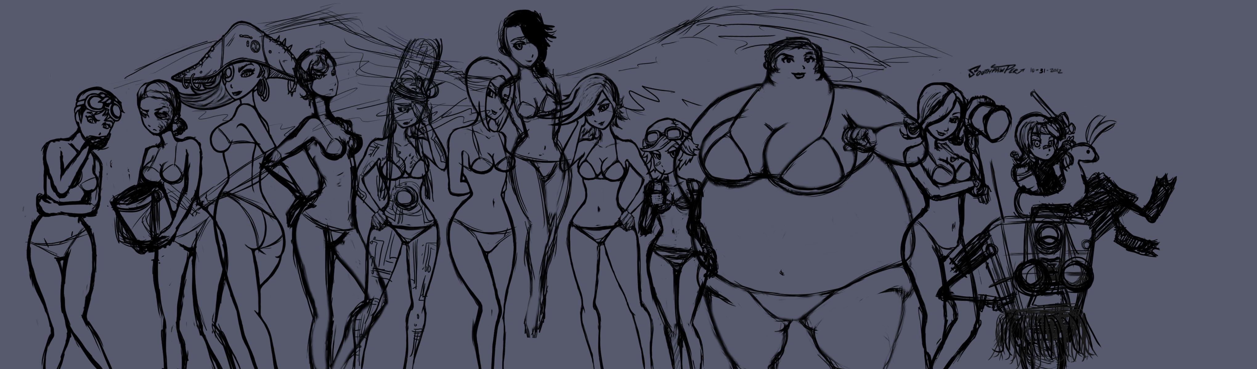 ... WIP-3-Borderlands Bikini Bundle by southpawper