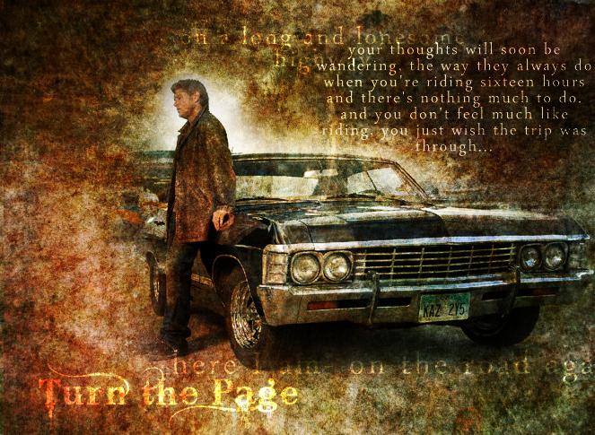 SPN Dean And The Impala By SprntrlFAN Livvi