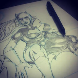 Batgirl - WIP by TellMeTheBlues