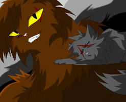 Brokenstar and Yellowfang by WhiteFlameSoul
