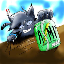 Jayfeather fights against AMP by WhiteFlameSoul