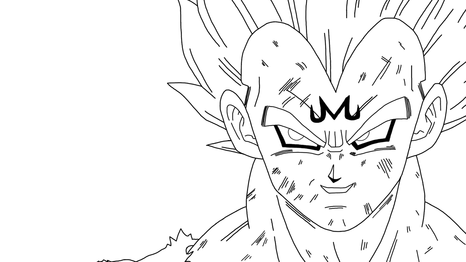 Vegeta's Final Atonement (Lineart) By DragonBallAffinity