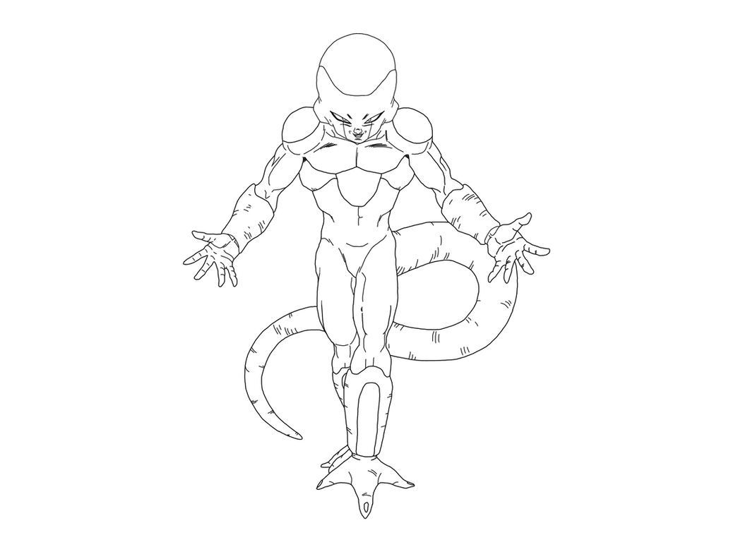 dbz coloring pages frieza - photo#5
