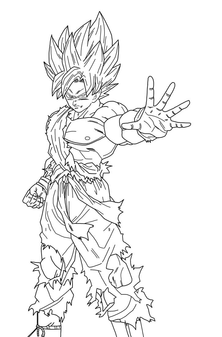SSJGoku Xenoverse Cover Lineart by DragonBallAffinity on