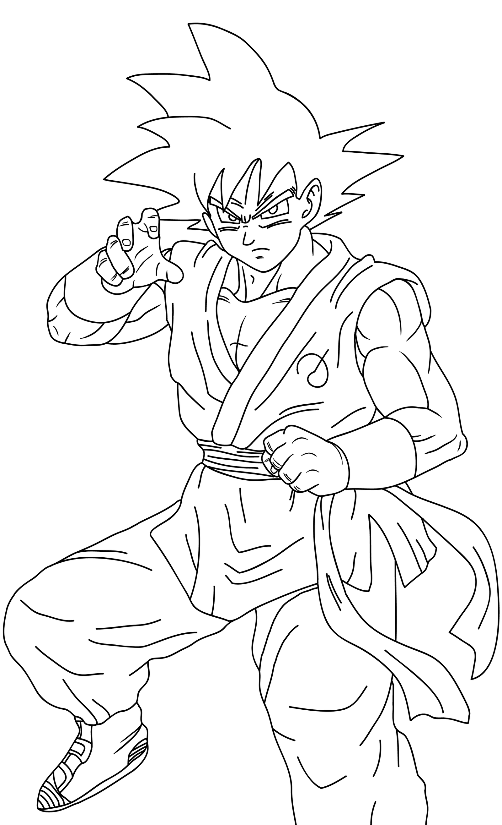 Goku Vs Naruto Coloring Pages