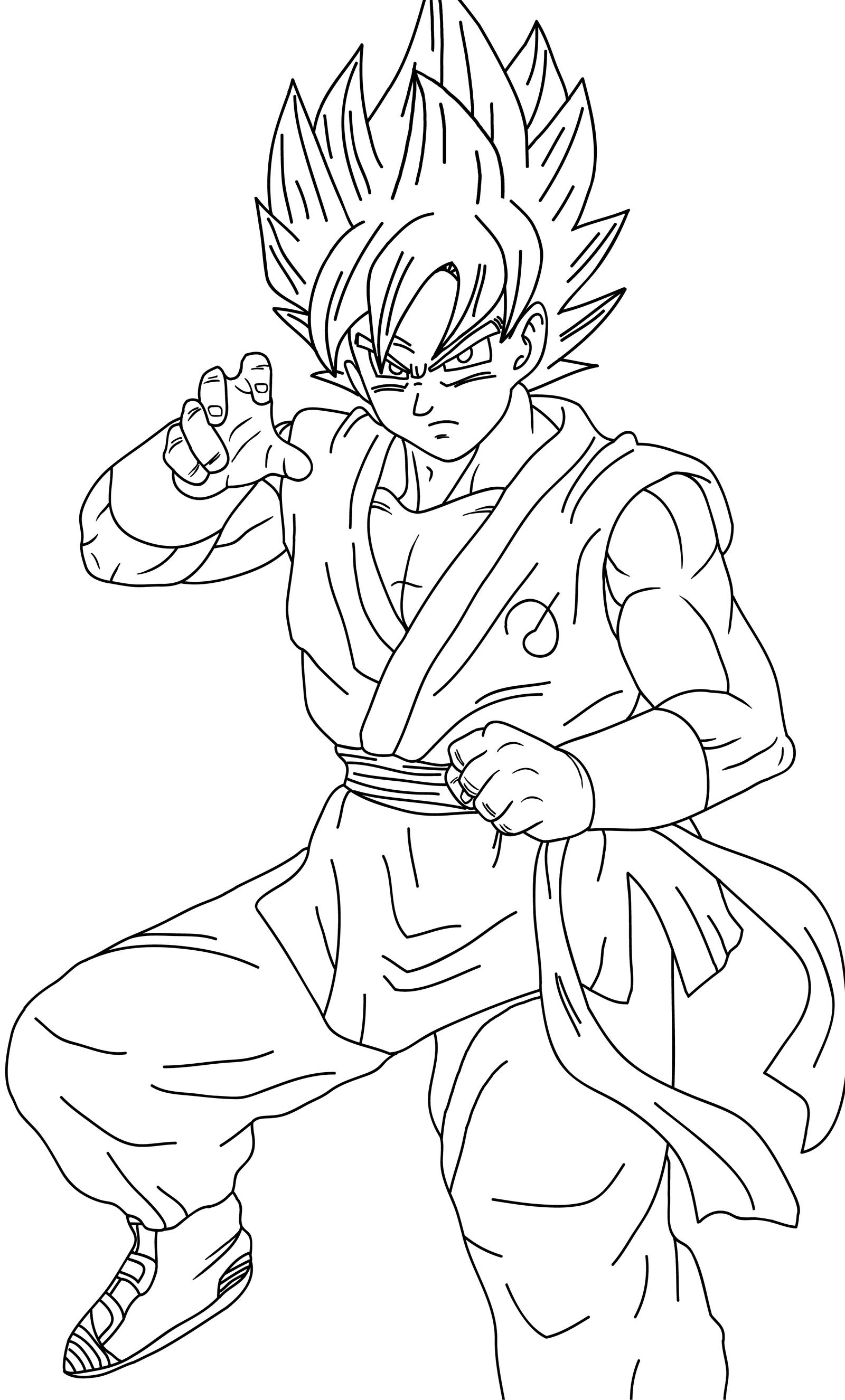 Famoso Ssgss Goku Para Colorear Cresta - Dibujos Para Colorear En ...
