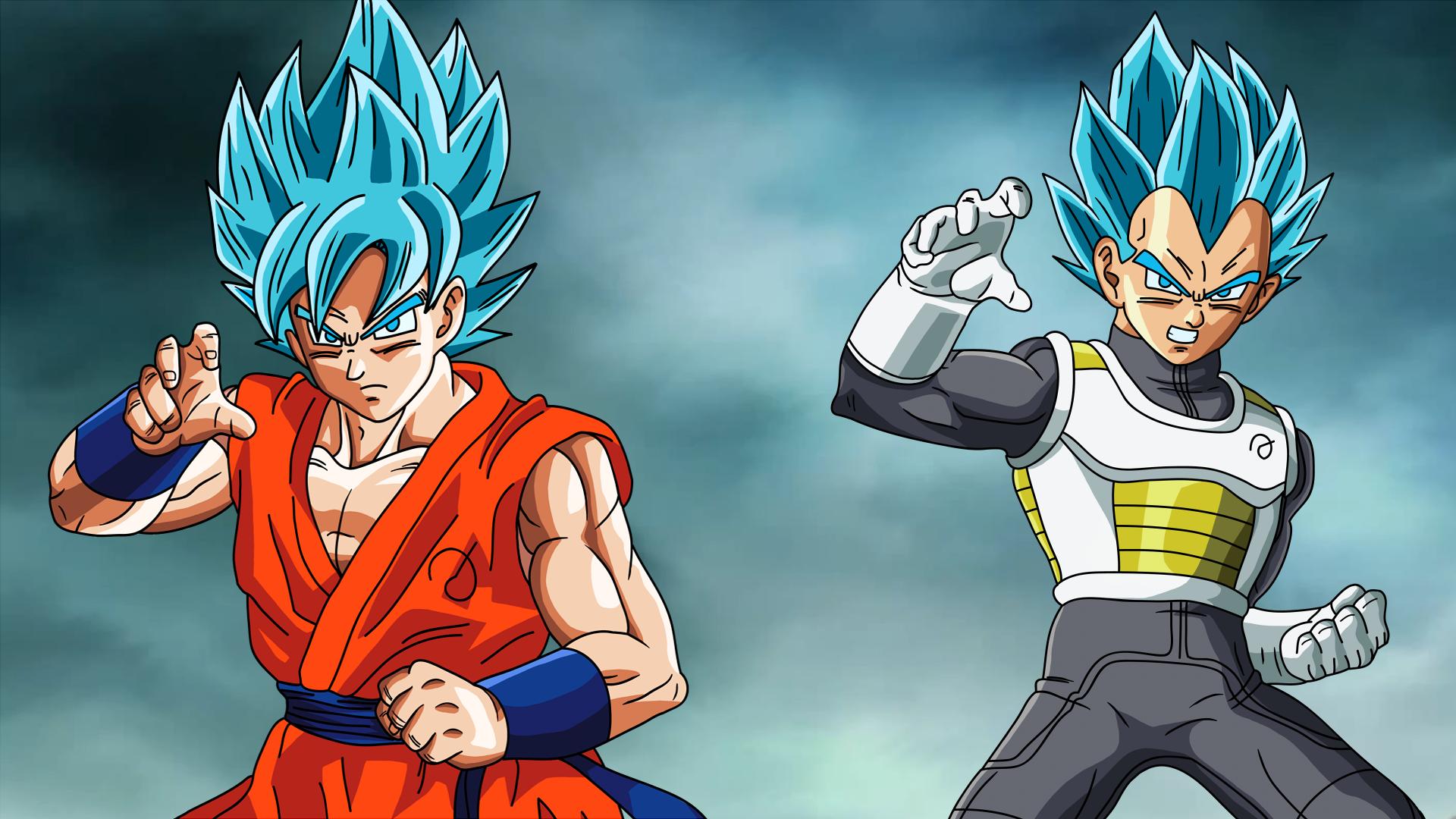 DragonBallAffinity Goku And Vegeta Fukkatsu No F SSJGod SS Wallpaper By