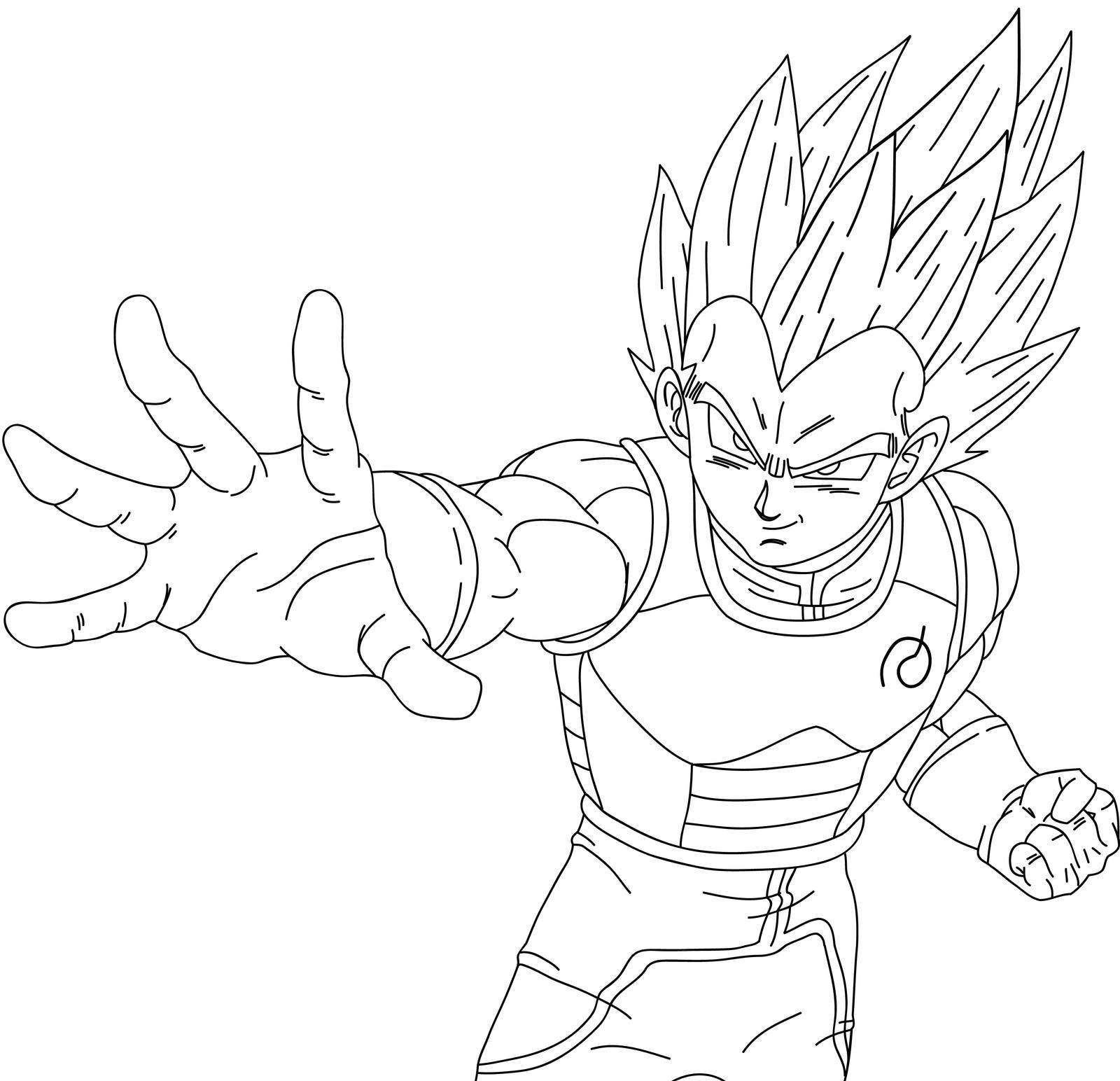 Line Art Vs No Line Art : Vegeta fukkatsu no f ssjgod ss lineart by