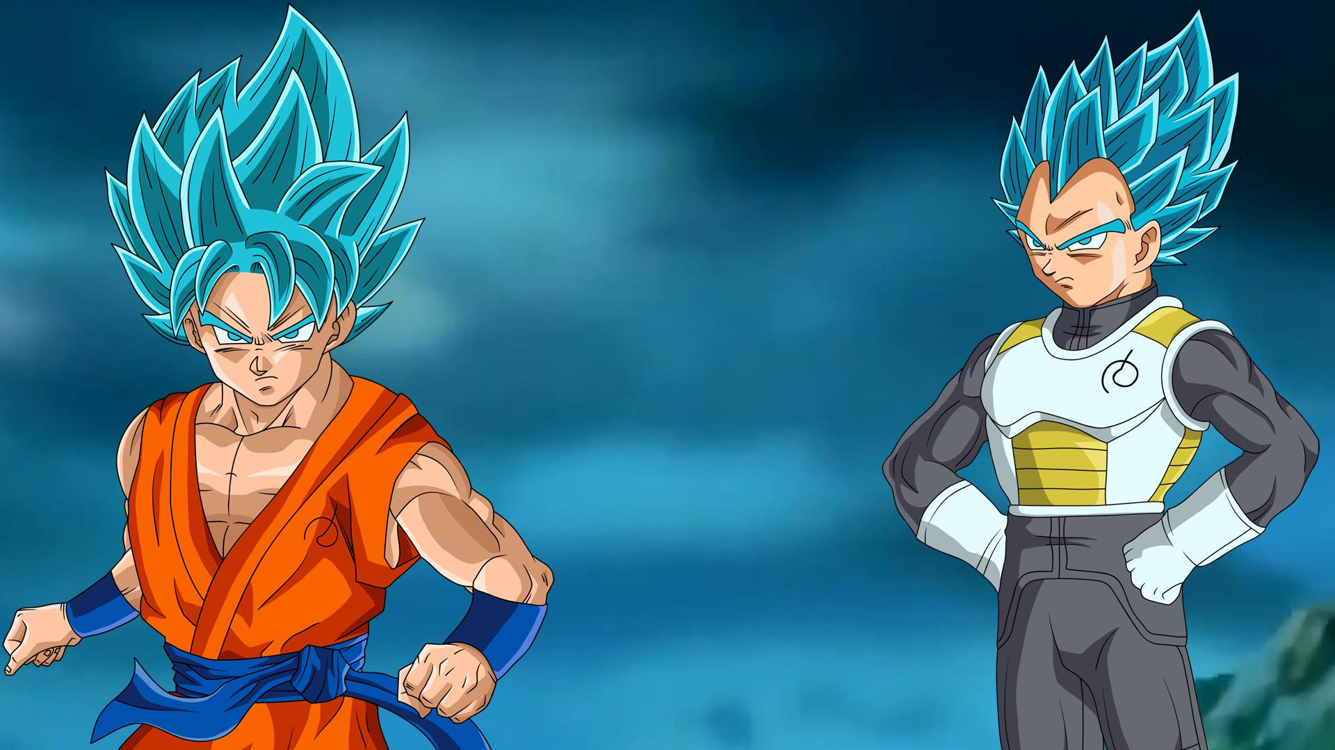 Goku And Vegeta Ssgss Fukkatsu No F Wallpaper By