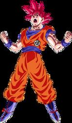Goku Super Saiyan God Power Up! Palette 3