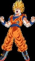 Goku Super Saiyan Power Up! by DragonBallAffinity