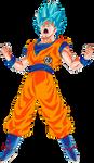 Goku SSGSS Goku Kanji outfit Power Up!