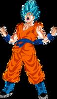 Goku SSGSS Fukkatsu no F Power Up! Palette 5 by DragonBallAffinity