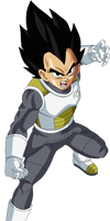 Vegeta Dragon Ball Super Fukkatsu no F Black Hair