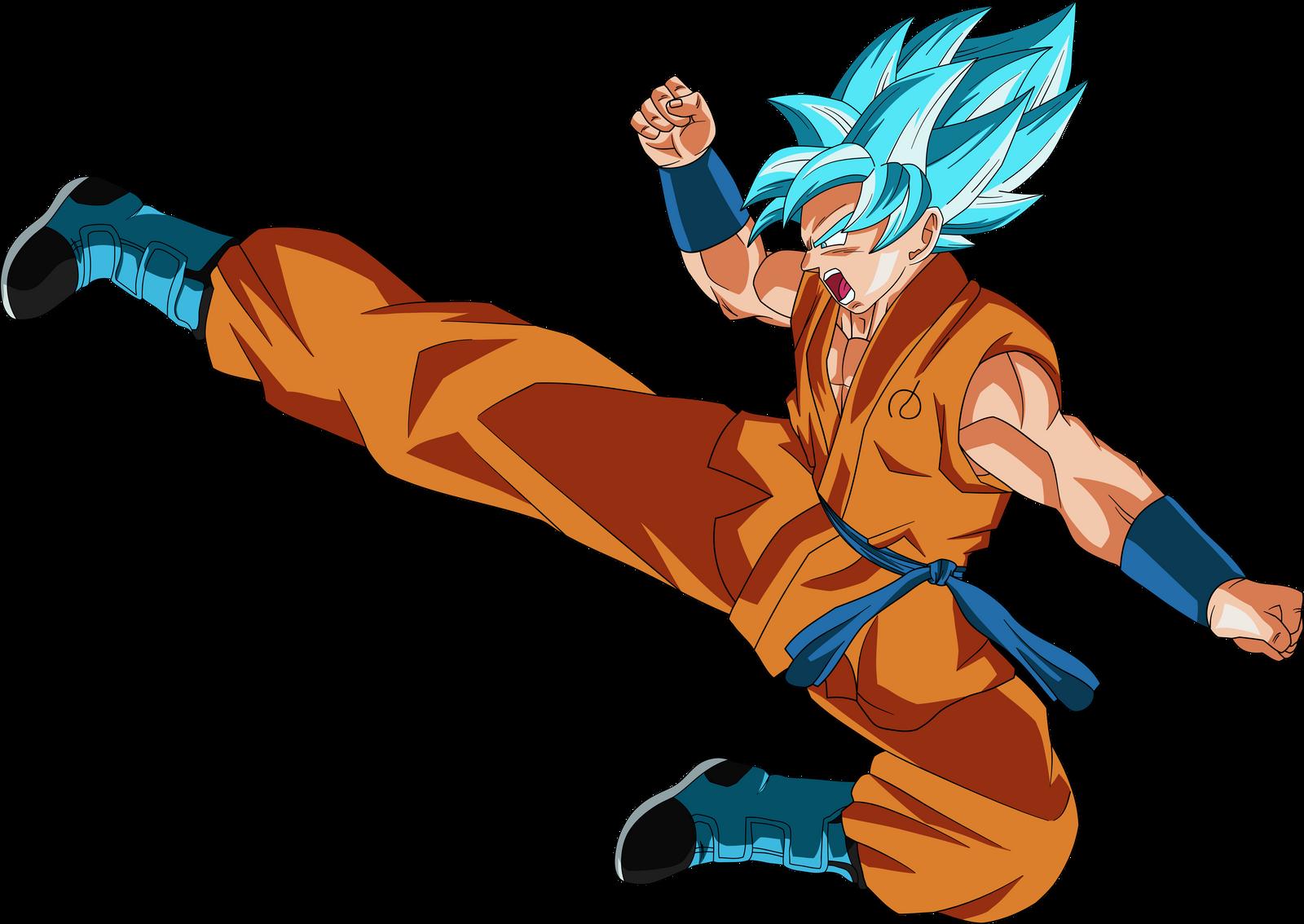 SSJ Blue Goku Kick By DragonBallAffinity On DeviantArt