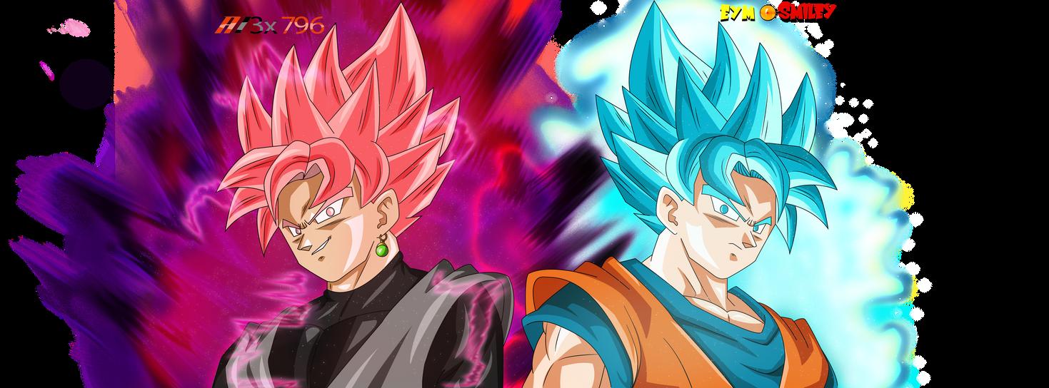 CollabGoku Black SSJ Rose? Vs SSJBlue Goku AurasV1 By