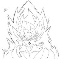 Goku Black Rose MSpaint Sketch by DragonBallAffinity
