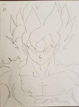 Son Goku Super Saiyan DBZ style sketch