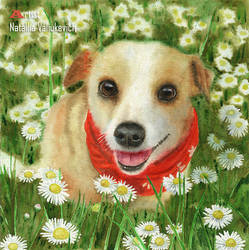 watercolor pet portrait by NatalliaValiukevich