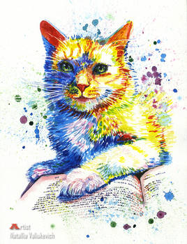 Custom pet portrait. Watercolor 2019