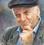 Portrait of my dad. Watercolor