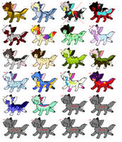 [CASH/POINTS] adopt batch! 15 designs + 6 customs by Skittlesthehusky