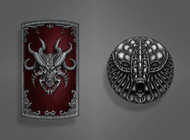 Dark Souls Shield Concepts by MRGunn-Art