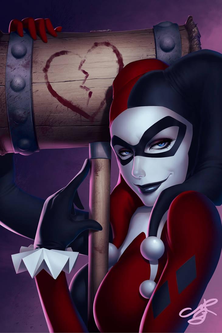 Harley Quinn Portrait by MRGunn-Art