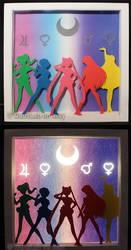 Sailor Team Lightbox - Color by HimeGabi