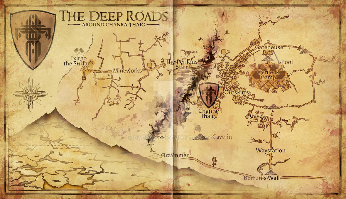 Dragon Age - Deep Road Area Map by Hapimeses on DeviantArt